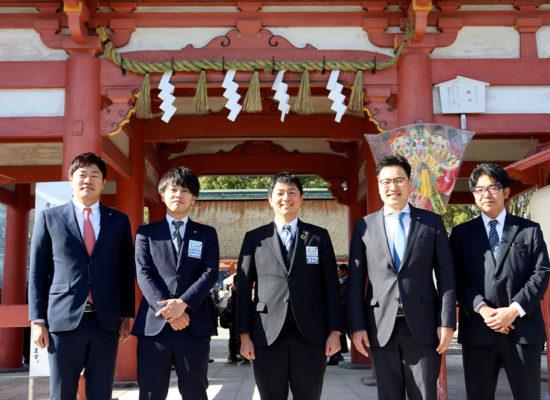 津島神社でご祈祷